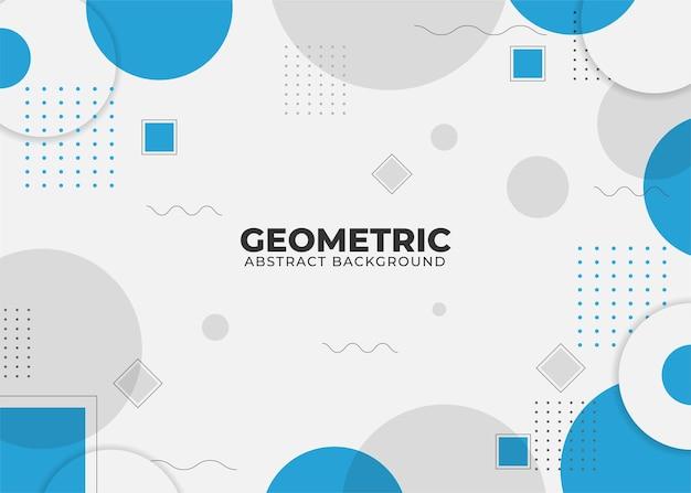 Fondo de forma geométrica abstracta con estilo memphis