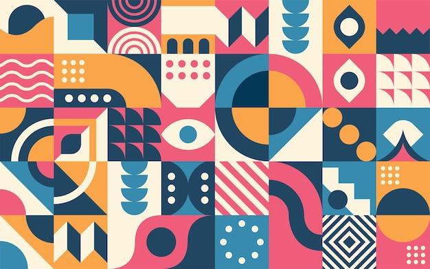 Fondo de forma geométrica retro abstracto