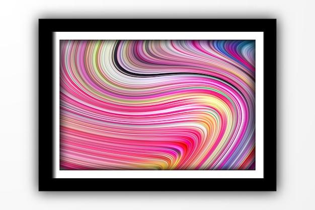 Fondo de forma de línea de onda 3d de remolino brillante de color abstracto para plantilla de cartel