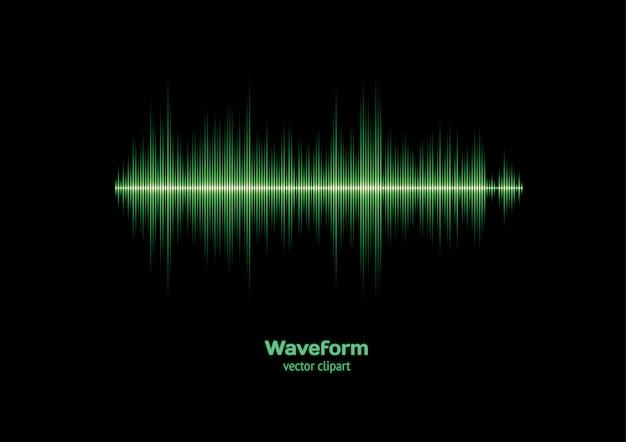Fondo de forma de onda verde