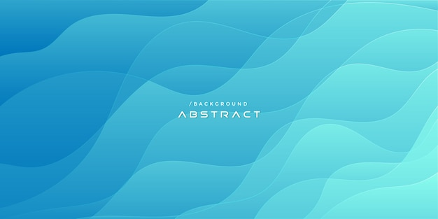 Fondo de forma ondulada degradado azul abstracto brillante