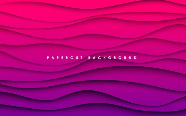 Fondo de forma ondulada degradado púrpura abstracto