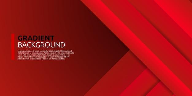 Fondo de forma roja geométrica degradado abstracto dinámico
