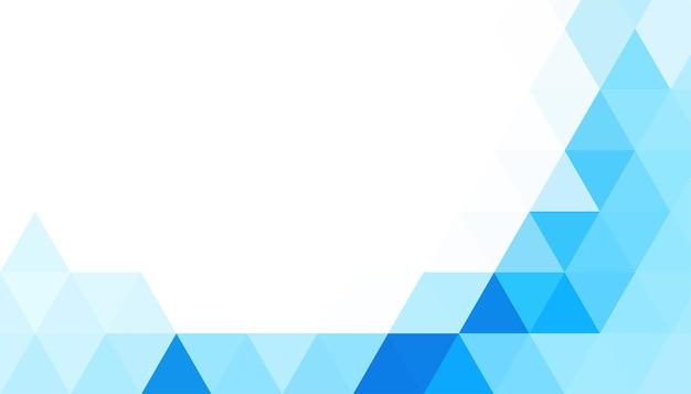 Fondo de forma de triángulos azules abstractos