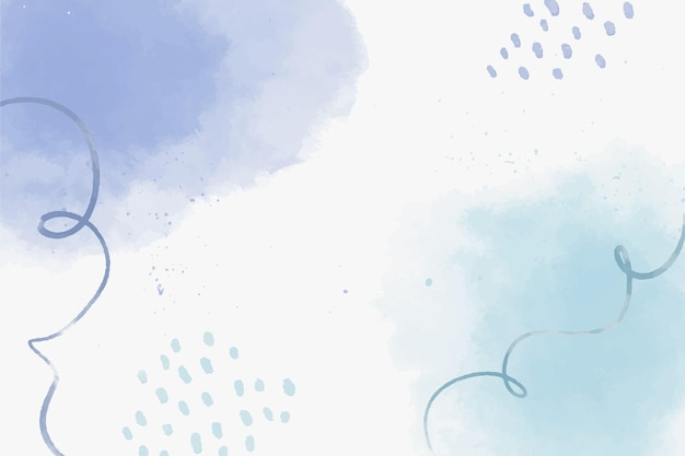Fondo de formas abstractas azul acuarela