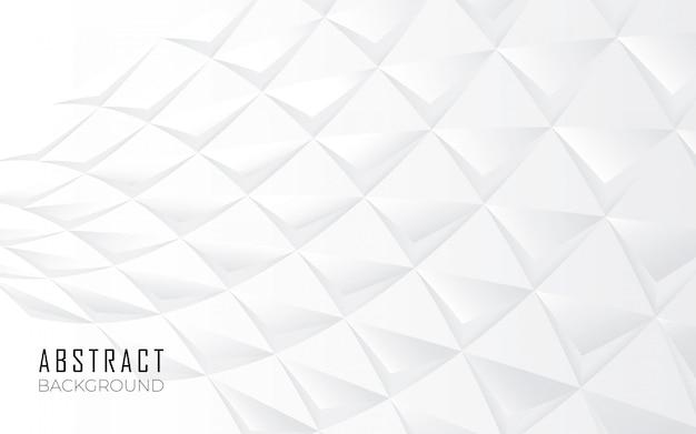 Fondo de formas abstractas en blanco