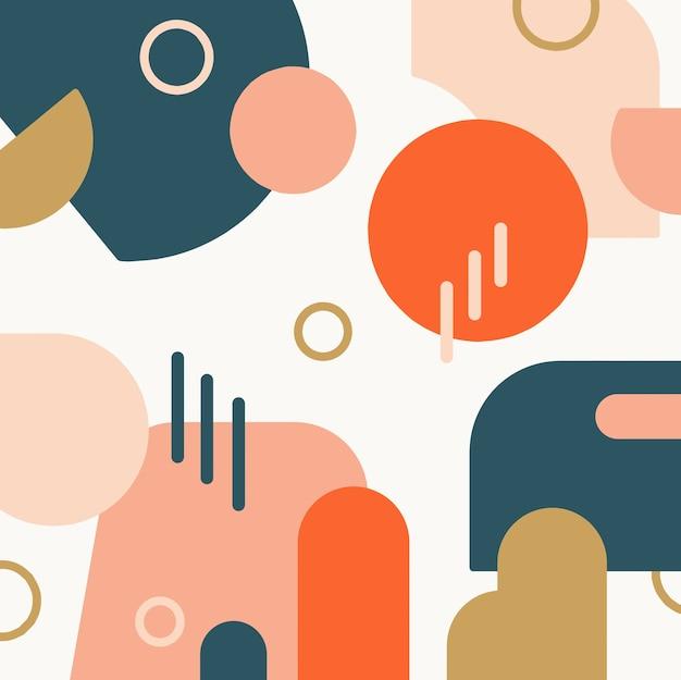 Fondo de formas abstractas de colores
