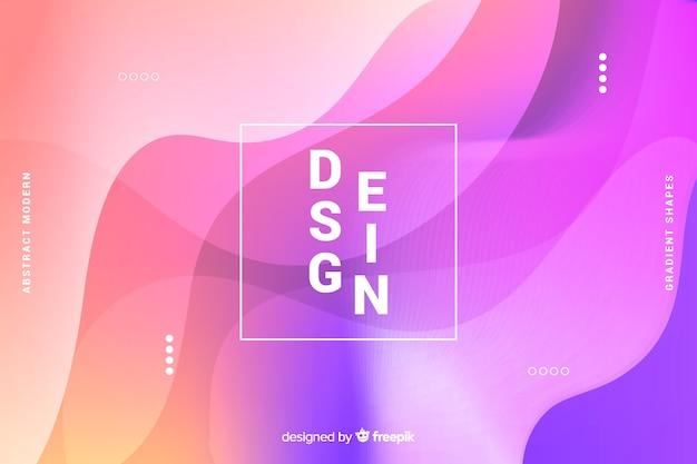Fondo de formas abstractas coloridas con degradado