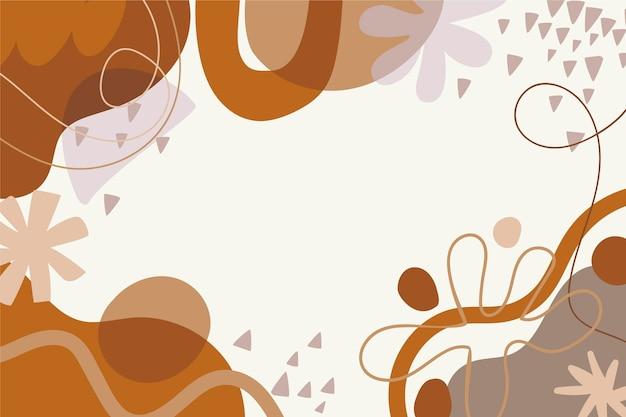 Fondo de formas abstractas dibujadas a mano
