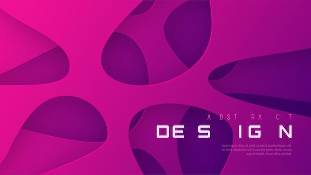 Fondo de formas abstractas, estilo papercut.