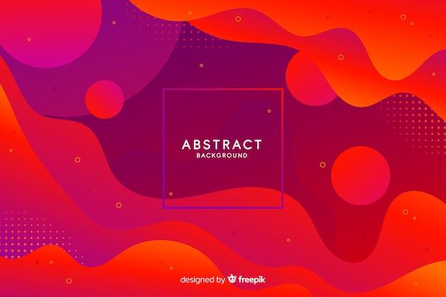 Fondo de formas abstractas gradiente