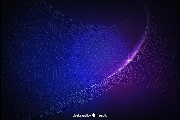 Fondo de formas abstractas partículas brillantes
