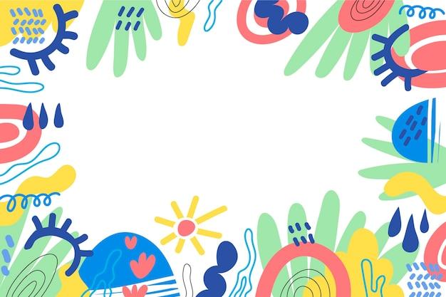 Fondo de formas abstractas planas dibujadas a mano