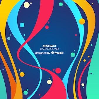 Fondo de formas coloridas abstractas