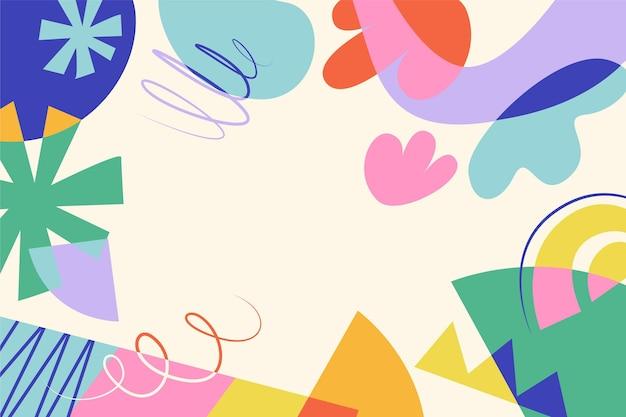 Fondo de formas coloridas estilo dibujado a mano