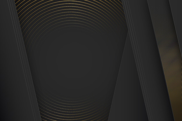 Fondo de formas de corte de papel negro con efecto de semitono