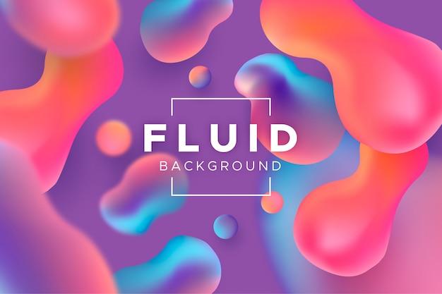 Fondo de formas fluidas 3d