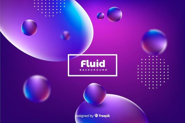 Fondo formas fluidas 3d
