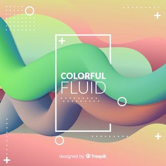 Fondo de formas fluidas coloridas en 3d