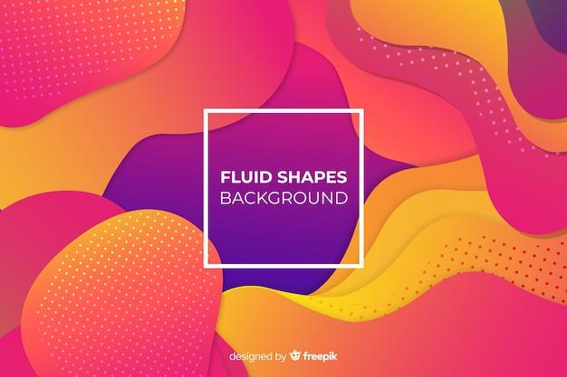 Fondo de formas fluidas coloridas con degradado