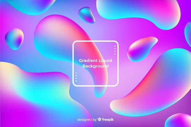 Fondo formas fluidas coloridas