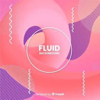 Fondo con formas fluidas