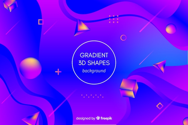Fondo de formas geométricas en 3d con degradado