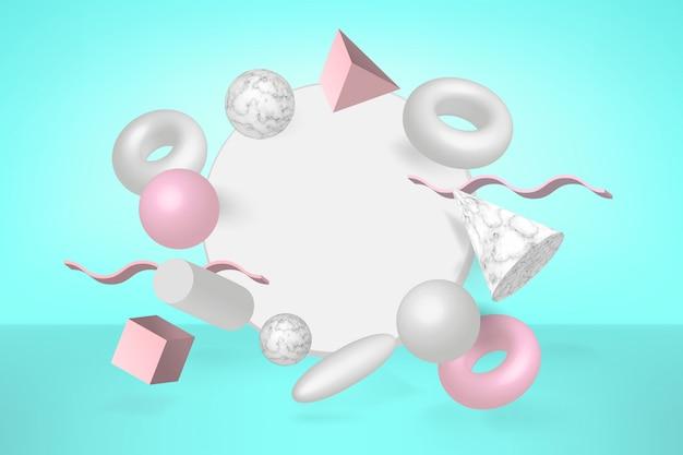Fondo de formas geométricas 3d