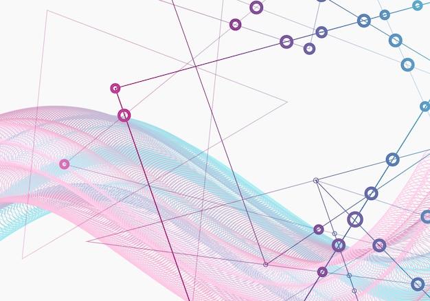 Fondo de formas geométricas conexión a internet