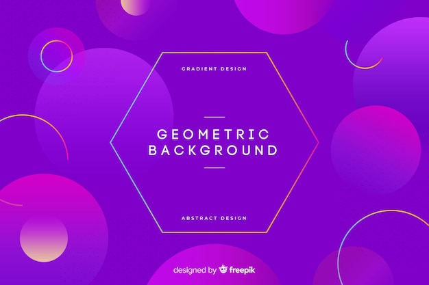 Fondo con formas geométricas y degradado
