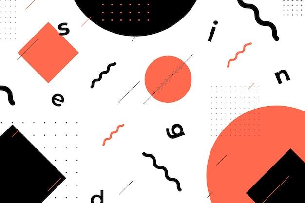 Fondo de formas geométricas de diseño gráfico