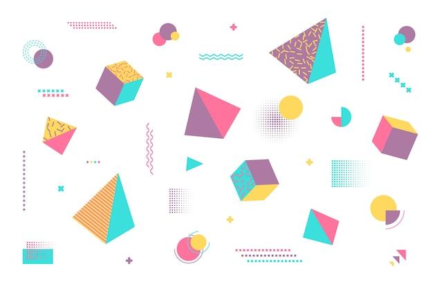 Fondo de formas geométricas en diseño plano