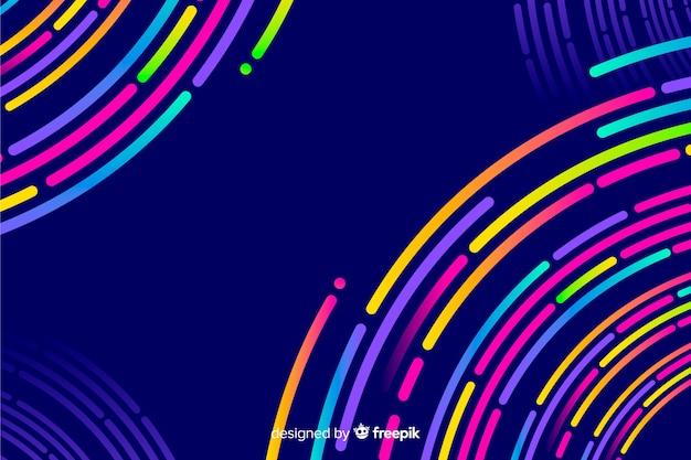 Fondo con formas geométricas de estilo neón