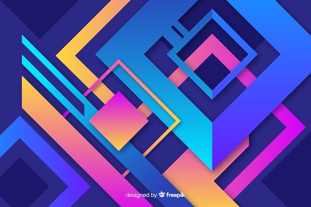 Fondo de formas geométricas gradiente