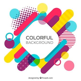 Fondo con formas geométricas multicolor