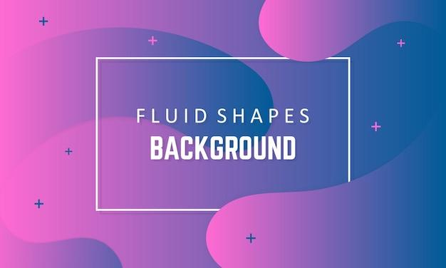Fondo de formas líquidas fluidas. fondo dinámico con formas fluidas ilustración de vector de concepto moderno en colores púrpuras. eps 10