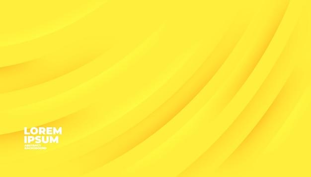 Fondo de formas modernas amarillo abstracto para banner