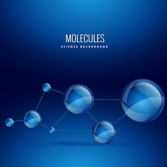 Fondo con formas de moléculas