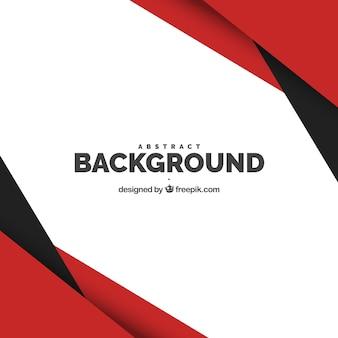 Fondo con formas negras y rojas