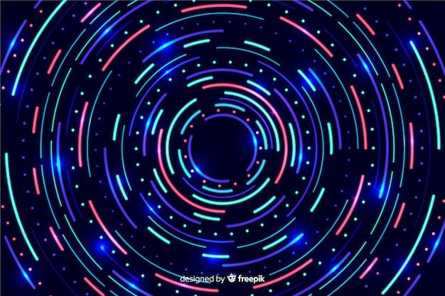 Fondo de formas de neón colorido geométrico