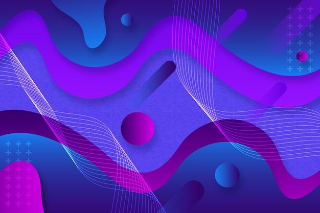 Fondo con formas y ondas