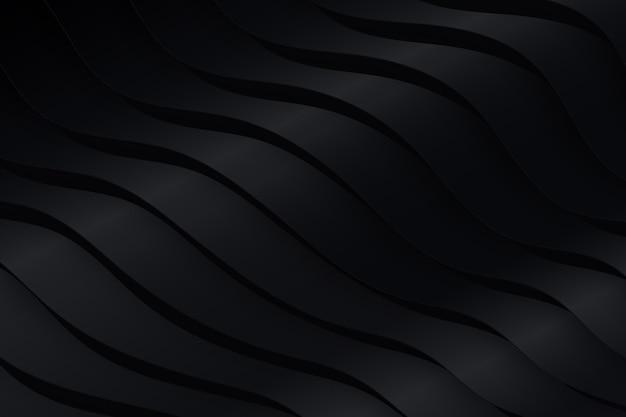 Fondo de formas onduladas negras