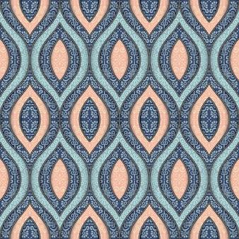 Fondo de formas ornamentales dibujadas a mano