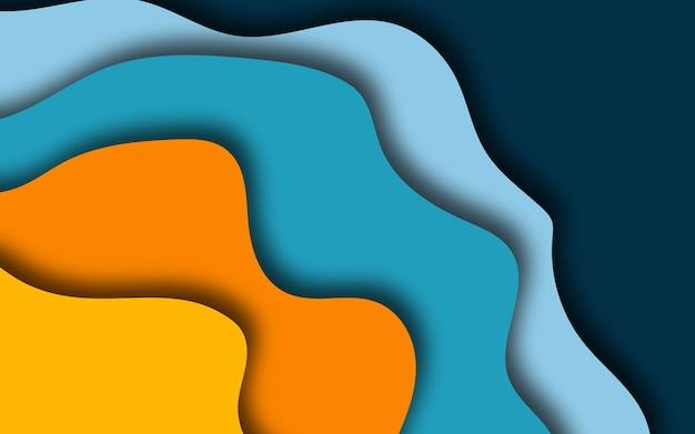 Fondo de formas de papercut 3d de color abstracto.
