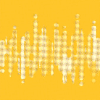 Fondo de formas redondeadas amarillo de semitono abstracto