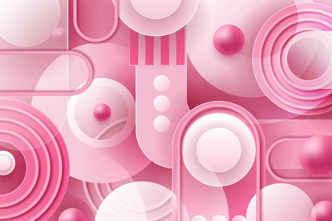 Fondo de formas superpuestas rosa