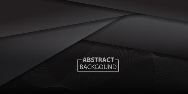 Fondo de formas de triángulo degradado negro