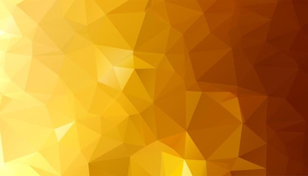 Fondo de formas de triángulo dorado de baja poli