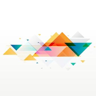 Fondo de formas de triángulo geométrico abstracto colorido