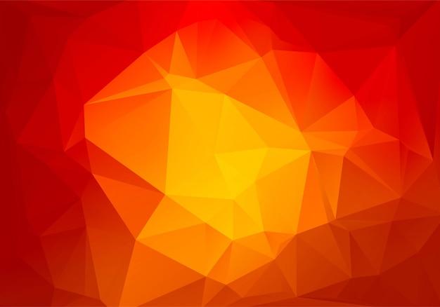 Fondo de formas de triángulo rojo poli baja